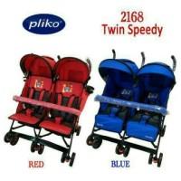 harga Stroller Pliko Speedy Twin Blue Tokopedia.com