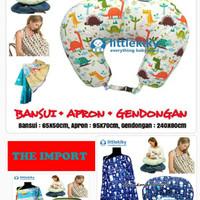 Jual Paket 3 in 1 Bantal Menyusui Apron Gendongan Karakter Bayi dan AnaK Murah
