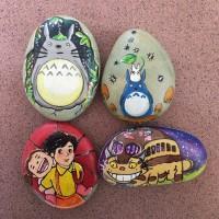 Jual 1 Set Batu Lukis Studio Ghibli (My Neighbor Totoro) Murah