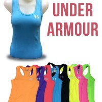 Jual Baju Singlet Gym Fitness Senam Yoga Import Under Armour Wanita Murah