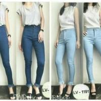 Jual highwaist jeans rawis   hw jeans punny light blue / celana high waist Murah