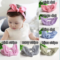 Bandana bayi bando kelinci baby headband turban anak motif lucu keren