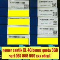 nomer cantik XL combo 4G kartu perdana bonus quota 3GB