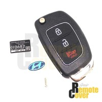 Jual Casing Kunci Lipat Flip Key Hyundai i10 Tuscon Santa Fe Murah