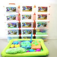 Jual Pasir Kinetik Super Jumbo Best Seller - 2 Kilogram Pasir - 12 Cetakan Murah