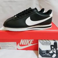 Nike Cortez Basic Leather Black White BNIB Original not fly knit
