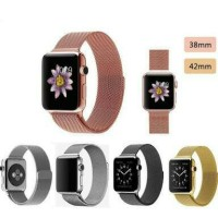 Jual (NEW tali jam )strap apple watch milanese magnet loop 38mm 42mm Murah