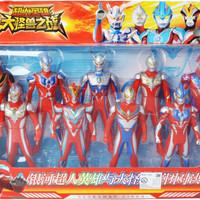 Figure Set Ultraman 9 Pcs - Mainan Ultraman Ginga