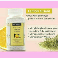 Herbeauty Masker - 100% Masker Wajah Alami - Lemon Fusion 80 Gram