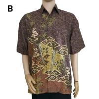 Jual Kemeja Batik Pria Semisutra Dobby Keris BM17 Murah