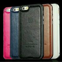Premium Bumper + Leather Case iphone 5/5s/6/6s casing iphone 6