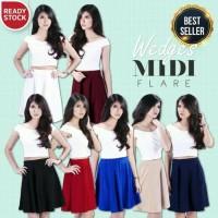 Wedges Midi Flare Skirt Bandage Fever / Uninamu / Urmod Rok