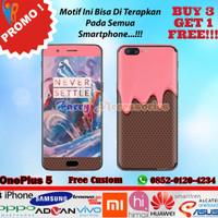 [Original] Garskin OnePlus 5 Motif Ice Cream -Free Custom Gambar