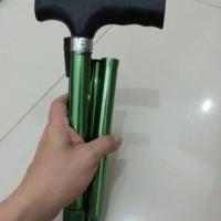 Alat Bantu Jalan Tongkat Kaki Lipat Single Walking Stick Pocket