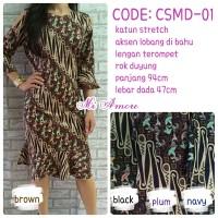 Baju/ Pakaian Wanita Mini Dress Batik Mi Amore - 05