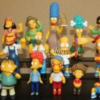 The Simpsons Family Action Figure 1 Set Dapat 14 Pc