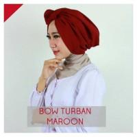 Jual Hijab Jilbab Kerudung Bow Turban Kode ZC40006 Bagus Termurah Murah