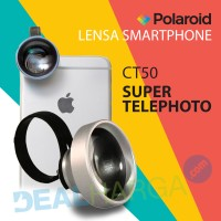 Lensa Kamera HP Super Telephoto Polaroid CT50 Lens - Silver