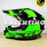 Helm GM Cross Moto1 Green Fluo Black