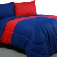 Sprei Polos Merah Cabe Mix Biru Tua Uk 100x200x20 cm