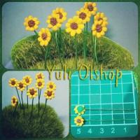 Jual Miniatur Sun Flower Dekorasi Mini Fairy Garden Bunga Matahari Murah