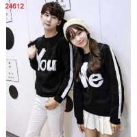 Sweater You Me Stripe Black - 24612, Sweater Couple Online Malaysia
