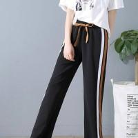 Celana Kulot Panjang Celana Panjang Santai Hitam Korea Import Chiffon