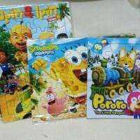 puzzle karakter kartun anak madagaskar ipin upin sponge bob pororo
