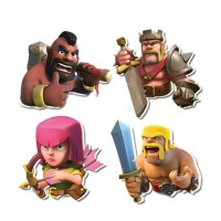 Mainan anak 3D Puzzle Clash of Clans COC 1 box isi 30 pcs / karakter