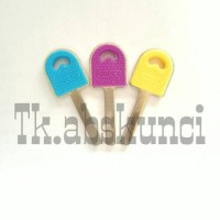 Bahan Kunci Gembok Abloy Warna (Keyblank)
