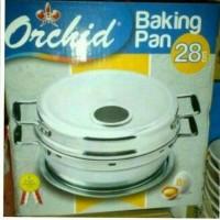 OVEN/BAKING PAN ORCHID 28CM/ALAT PANGGANG KUE ANTI KARAT KWALITAS BGUS