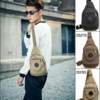 Tas Selempang Kanvas Fashion Wanita Pria Bodypack Shoulder Bag Man