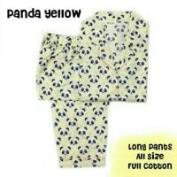 Piyama Dewasa. Panda Yellow. Longpants.