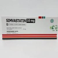 Simvastatin 10 mg tablet isi 50's