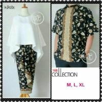couple batik kebaya batwing blouse dan rok lilit serta kemeja