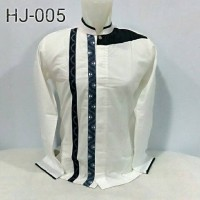 Baju koko panjang bahan katun versus HJ005