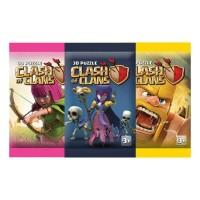 Mainan anak 3D Puzzle edukasi karakter tempel Clash of Clans COC