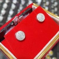 Terhangat Anting Emas Putih Full Berlian Eropa