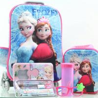 Jual Promo ! Tas Troli Anak 5 In 1 3D Frozen Elsa Biru Murah