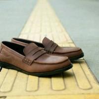 Sepatu Slipon Slop Kasual Pria - Kulit Asli - TOODS PENIE - Brown