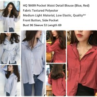 HQ 18499 Pocket Waist Detail Blouse