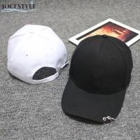 TOPI KPOP CAP RING (BLACK / WHITE) IMPORT KOREA