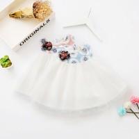 BAJU BAYI / BABY DRESS DENGAN KAIN KASA (GRATIS TAS KECIL)