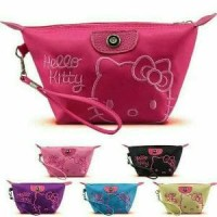 Jual SALEEE!!! POUCH BAG MURAH BORDIR HK TAS KOSMETIK HELLO KITTY COLORFULL Murah