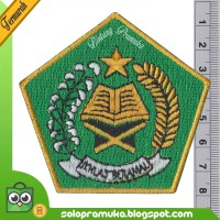 Logo Bedge Ikhlas Beramal Kementrian Agama Bordir