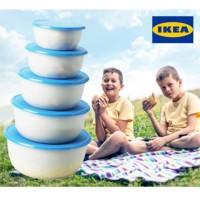 Jual [S869] IKEA Reda 5 pcs Food Container - Lunch Box Toples Multifungsi - Murah