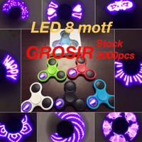 Fidget Spinner I LOVE YOU Led Lamp Toys Spinner led motif