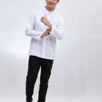 Baju Muslim Dewasa Dannis Koko Ikhrom Lengan Panjang - Putih