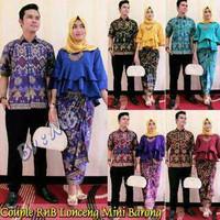 Jual Baju Couple Batik / Couple Batik Mini Barong Lonceng ( MURAH, GROSIR,  Murah