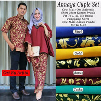 Jual Baju Couple Batik Annaya Batwing ( MURAH, GROSIR, KERJA ) Murah